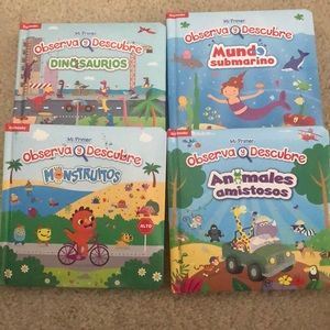 Libros! Kids Spanish look and find books.
